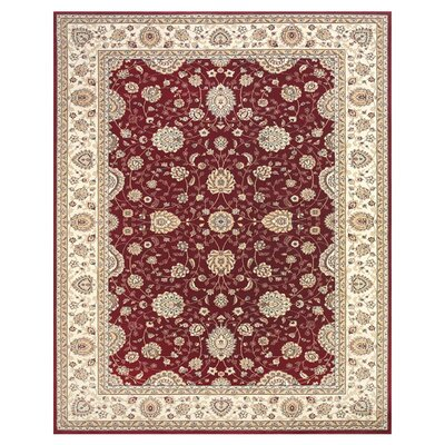 Barden Red / Cream Rug Rug Size: Rectangle 5 x 8