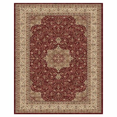 Barden Red / Cream Rug Rug Size: 81 x 111