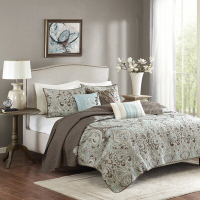 Pierson Coverlet Set Size: King/California King, Color: Brown