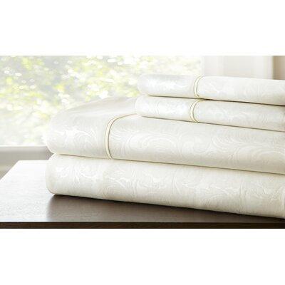 Farnhill Sheet Set Color: White, Size: Queen