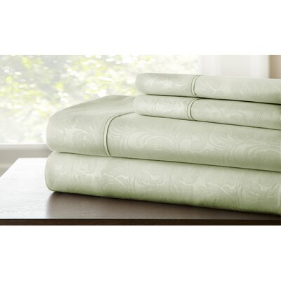 Farnhill Sheet Set Color: Seafoam, Size: Full