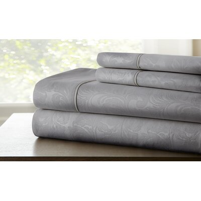 Farnhill Sheet Set Color: Gray, Size: Twin