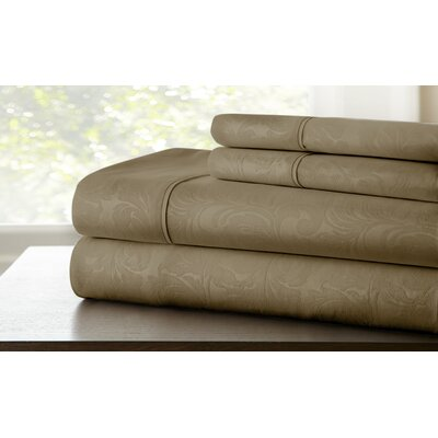 Farnhill Sheet Set Color: Mocha, Size: Twin