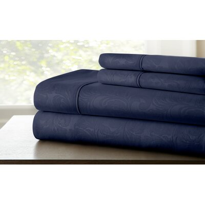 Farnhill Sheet Set Color: Indigo, Size: Queen