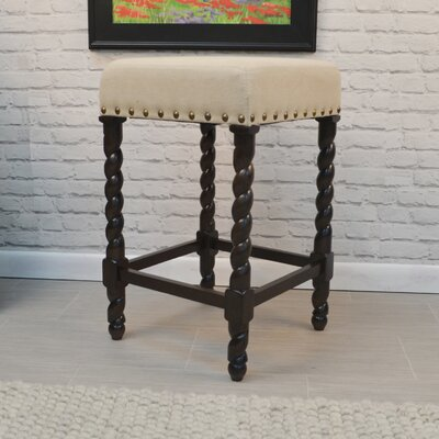Causey Park 25 Bar Stool with Cushion Upholstery: Espresso