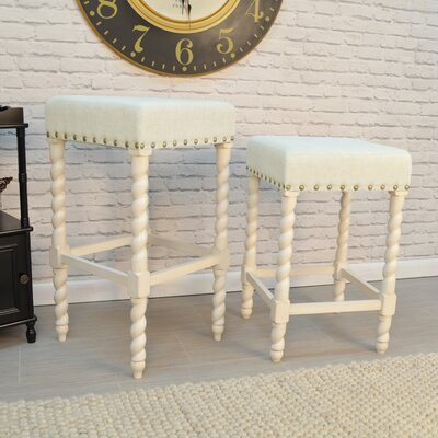 Causey Park 30 Bar Stool Upholstery: Vintage White