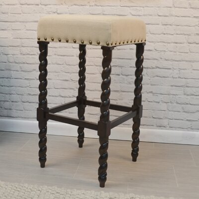 Causey Park 30 Bar Stool with Cushion Upholstery: Espresso