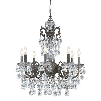 Andrea 8-Light Crystal Candle Chandelier