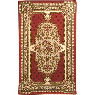 Balthrop Red Floral Area Rug COLOR: Red, Rug Size: Rectangle 36 x 56