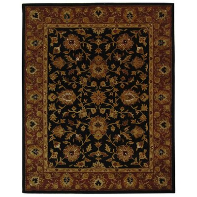 Balthrop Black/Red Area Rug Rug Size: 76 x 96