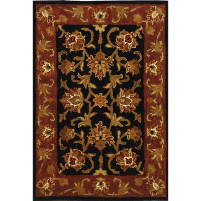 Balthrop Black/Red Area Rug Rug Size: Rectangle 76 x 96