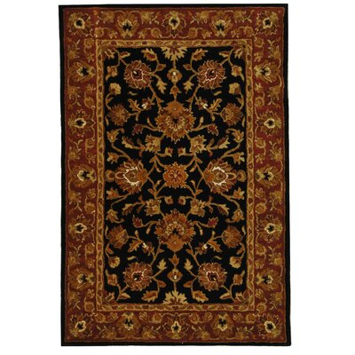 Balthrop Black/Red Area Rug Rug Size: 46 x 66