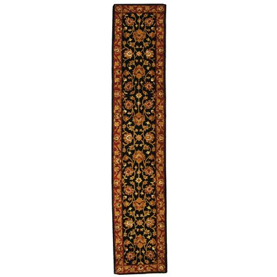 Balthrop Black/Red Area Rug Rug Size: Runner 23 x 10