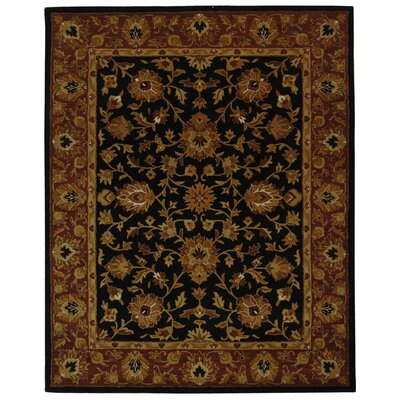 Balthrop Black/Red Area Rug Rug Size: 6 x 9