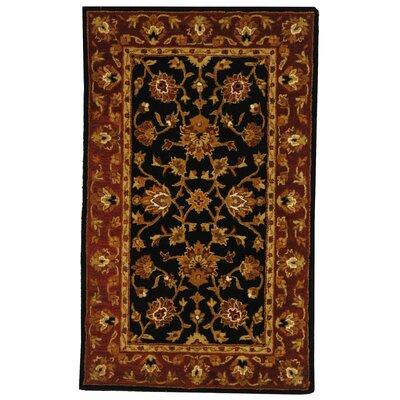 Balthrop Black/Red Area Rug Rug Size: 3' x 5'