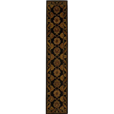 Balthrop Black Area Rug Rug Size: Runner 23 x 14