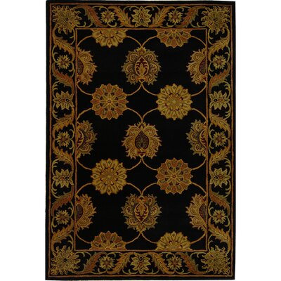 Balthrop Black Area Rug Rug Size: Rectangle 76 x 96