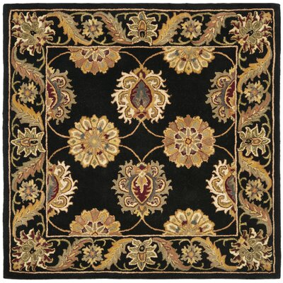 Balthrop Black Area Rug Rug Size: Square 6