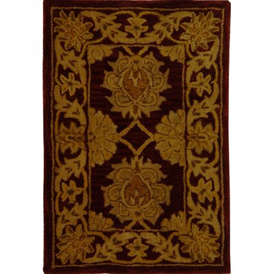 Balthrop Maroon Area Rug Rug Size: Rectangle 83 x 11