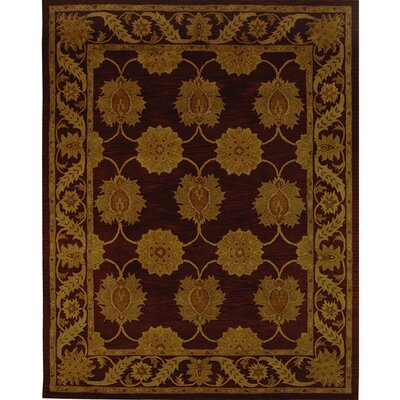 Balthrop Gold Maroon Area Rug