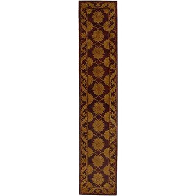 Balthrop Gold Maroon Area Rug Rug Size: Runner 2'3