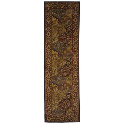 Balthrop Handmade Wool Red/Gold Area Rug Rug Size: Runner 23 x 14