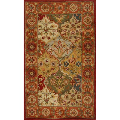 Balthrop Red Wool Hand Tufted Area Rug Rug Size: Rectangle 4 x 6