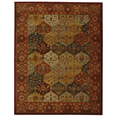 Balthrop Red Wool Hand Tufted Area Rug Rug Size: 96 x 136