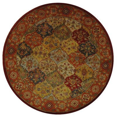 Balthrop Red Wool Hand Tufted Area Rug Rug Size: Round 8