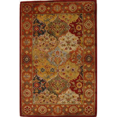 Balthrop Red Wool Hand Tufted Area Rug Rug Size: 3 x 5