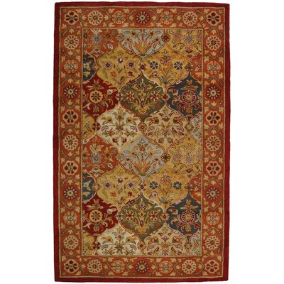 Balthrop Multi/Red Area Rug Rug Size: 4 x 6