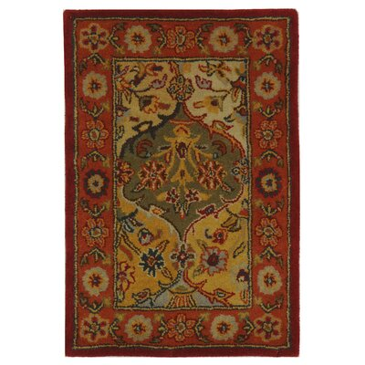 Balthrop Red Wool Hand Tufted Area Rug Rug Size: 2 x 3