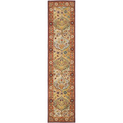 Balthrop Multi/Red Area Rug Rug Size: Runner 23 x 16