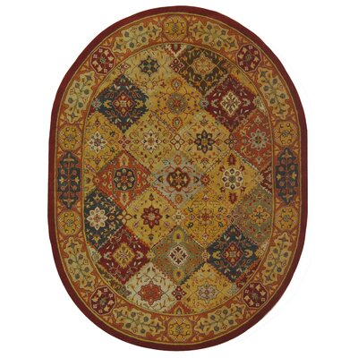 Balthrop Floral Area Rug Rug Size: Oval 76 x 96