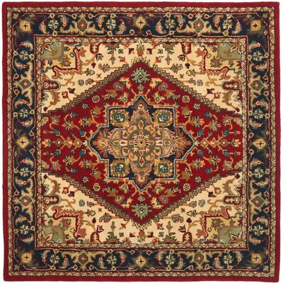 Balthrop Red Oriental Area Rug Rug Size: Square 4