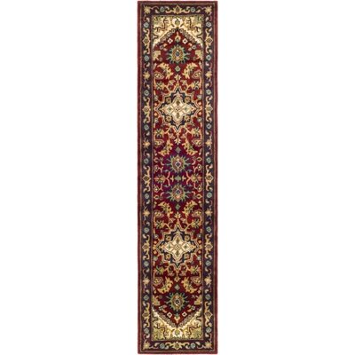 Balthrop Red & Yellow Oriental Area Rug Rug Size: Runner 23 x 10