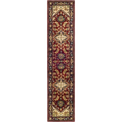 Balthrop Red & Yellow Oriental Area Rug Rug Size: Runner 23 x 12