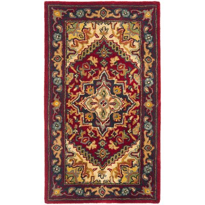 Balthrop Red & Yellow Oriental Area Rug Rug Size: 2'3