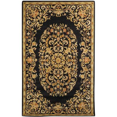Balthrop Black/Gold Area Rug Rug Size: 83 x 11