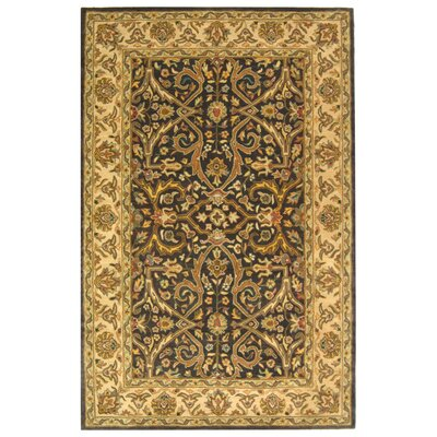 Balthrop Charcoal/Beige Area Rug Rug Size: Rectangle 4 x 6