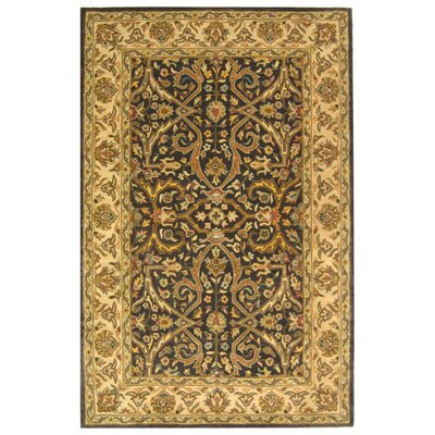 Balthrop Charcoal/Beige Area Rug Rug Size: Rectangle 2' x 3'