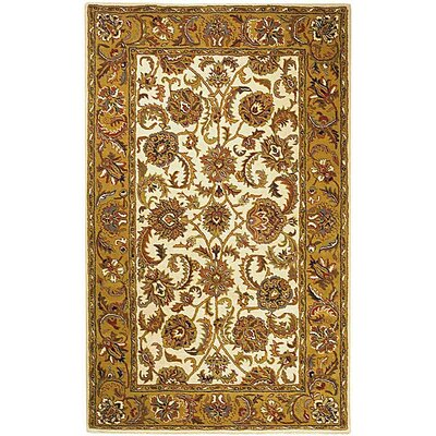 Balthrop Ivory/Gold Area Rug COLOR: Ivory / Gold, Rug Size: Round 36