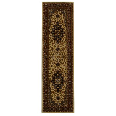 Balthrop Ivory/Red Area Rug Rug Size: Runner 23 x 6