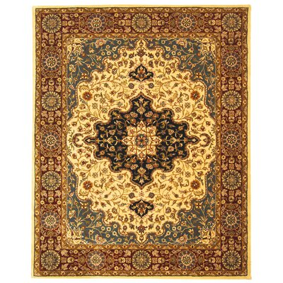 Balthrop Ivory/Red Area Rug Rug Size: 9'6