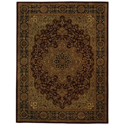 Balthrop Red/Black Area Rug Rug Size: 76 x 96