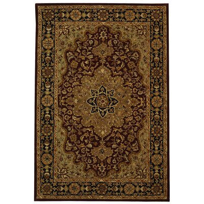 Balthrop Red/Black Area Rug Rug Size: 5 x 8