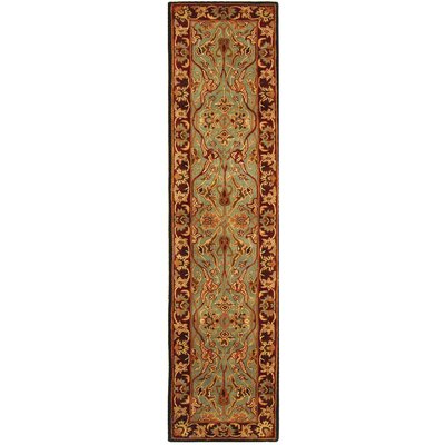 Balthrop Hand-Tufted Wool Light Blue/Red Area Rug Rug Size: Runner 23 x 8