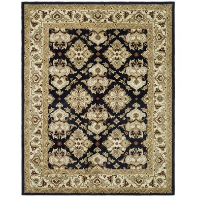 Balthrop Black/Ivory Area Rug Rug Size: Rectangle 6 x 9