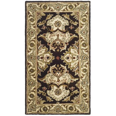 Balthrop Espresso/Ivory Area Rug Rug Size: Rectangle 76 x 96