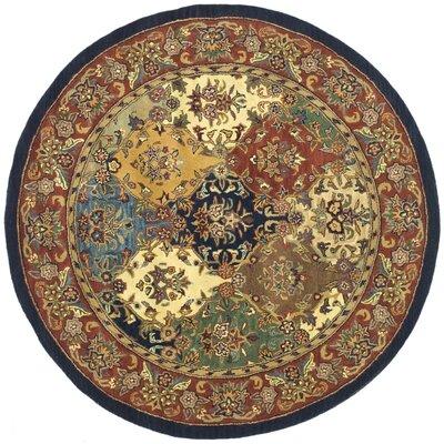 Balthrop Wool Hand Tufted Area Rug Rug Size: Round 36